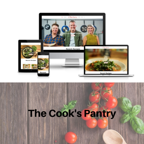 the cooks pantry, website design